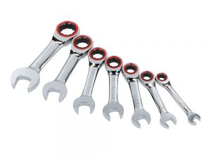Jgo 7 llaves combinadas cortas matraca flexibles inch Urrea