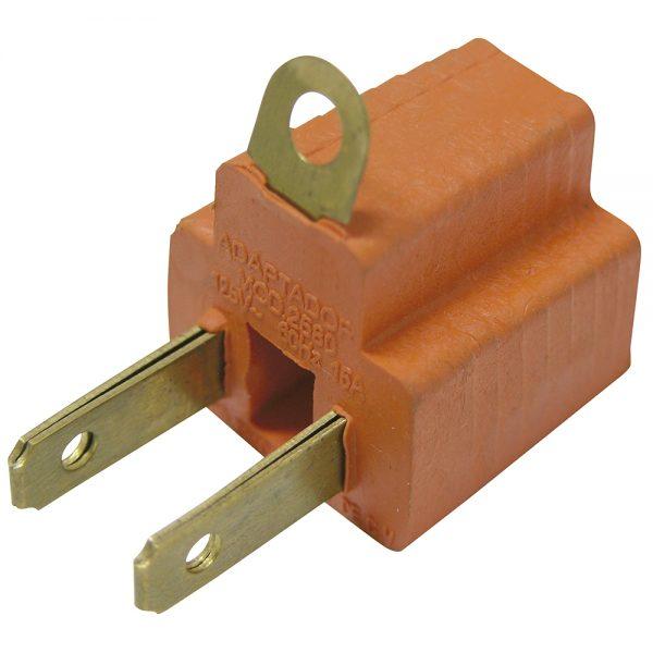 Adaptador clavija PVC de aterrizado a polarizado Surtek