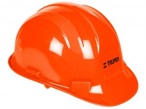 Casco de seguridad color naranja