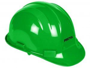 Casco de seguridad, color verde, Pretul
