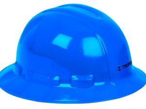 Casco de seguridad, azul, ala ancha