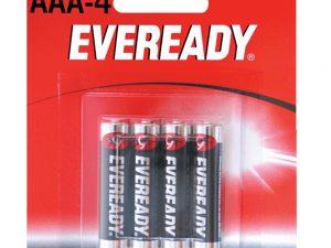 Pila alcalina marca Eveready® AAA con 4 piezas Surtek
