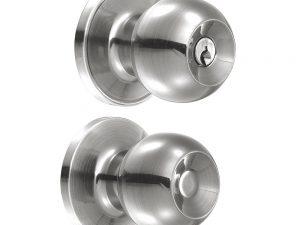 Cerradura de pomo (bola) para entrada ppal acero inox  Lock