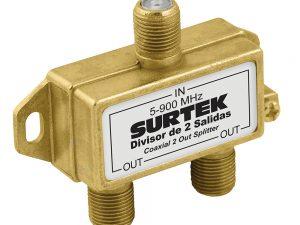 Divisor coaxial 1 entrada 2 salidas Surtek