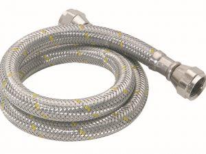 Manguera de PVC con tramado de acero inoxidable para gas