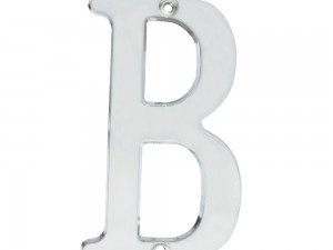 """Letra B slim 4"""" cromo satinado Lock"""