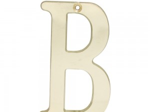 """Letra B slim 4"""" latón brillante Lock"""