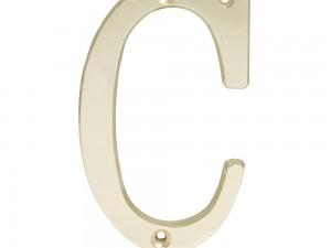 """Letra C slim 4"""" latón brillante Lock"""