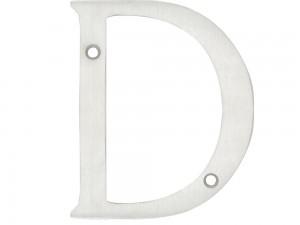 """Letra D slim 4"""" cromo satinado Lock"""