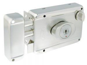 Cerradura de sobreponer 2 bulones llave de puntos Lock