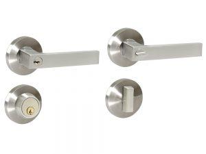 Combo manija Alta doble Níquel Satinado llave estándar Lock