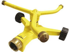 Aspersor estacionario con ruedas giratorio, 3 brazos Surtek