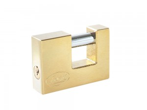 Candado acero cortina llave estándar 70mm latón brillan Lock