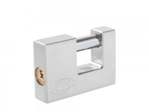 Candado acero cortina llave tetra cr70mm cromo satinado Lock