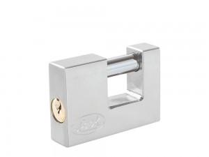 Candado acero cortina llave estándar 80mm cromo satin Lock