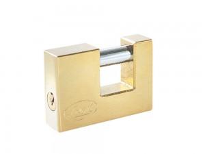 Candado acero cortina llave estándar 80mm latón brillan Lock