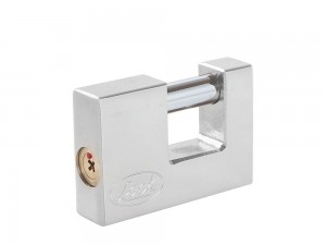 Candado acero cortina llave tetra 80mm cromo satinado Lock