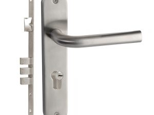 Manija acero inox Chatel placa llave estándar entrada Lock