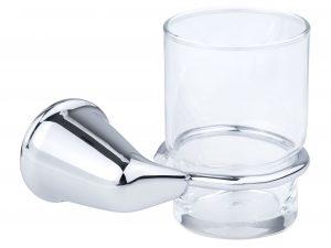 Portacepillos de empotrar con vaso de cristal VERMONT®